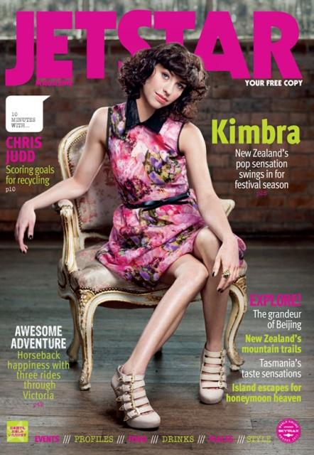 Jetstar Magazine Cover Featuring Kimbra Wearing Parisian Street Society